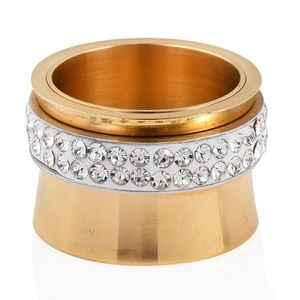 Jewelry - WHITE CRYSTAL STAINLESS STEEL RING